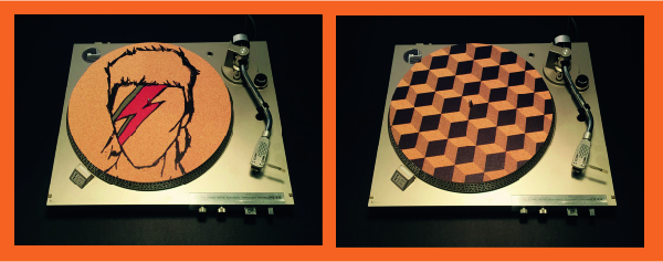 Slipmat designs by Taz Studios